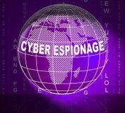 Illustration criminelle de l'attaque 3d de Cyber d'espionnage de Cyber illustration stock