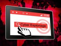 Illustration criminelle de l'attaque 3d de Cyber d'espionnage de Cyber illustration libre de droits