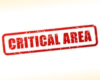 Critical area red text stamp. Illustration of critical area red text stamp Stock Images