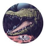 Illustration of a Crocodile. African crocodile. royalty free illustration