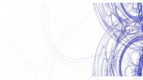 Illustration of cross color lines. Partially blurry figure. The fractal visualization. Spatial shapes and lines. Symbolizes the eternal movement of time and Vector Illustration
