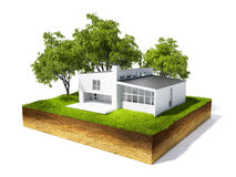 Illustration of cross section of ground Royalty Free Stock Photo