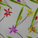 Illustration. Cross-stitch. Bluebell, scilla, primroses. Seamles Royalty Free Stock Photography