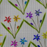 Illustration. Cross-stitch. Bluebell, scilla, primroses. Seamles Stock Photography