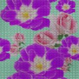 Illustration. Cross-stitch. Rose, rose flower. Seamless pattern. Illustration. Cross-stitch. Rose, rose flower. Texture of flowers. Seamless pattern for stock illustration