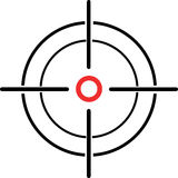 Illustration of a crosshair reticle on a white background Stock Photography