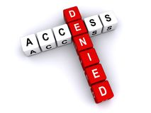"""Access denied. An illustration of a crossword of the phrase """"access denied Royalty Free Stock Images"""