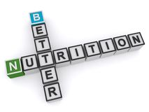 Better nutrition. An illustration of a crossword with the words better nutrition vector illustration