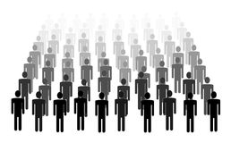 Illustration of crowd Stock Photography