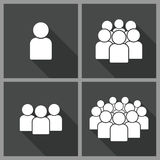 Illustration of crowd of people Stock Images