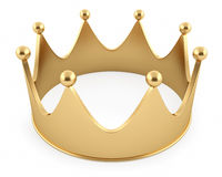 Illustration of the crown from gold Royalty Free Stock Photography