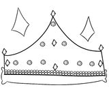 Illustration of a crown Royalty Free Stock Images
