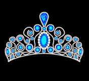 Illustration crown tiara women with glittering Royalty Free Stock Photos