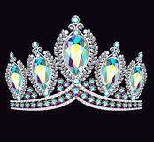 crown tiara women with glittering precious stones royalty free illustration