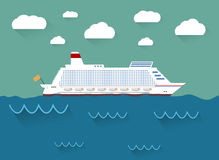 The illustration of cruise ship Royalty Free Stock Images