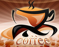 Illustration of a cup of coffee Royalty Free Stock Images