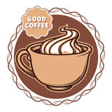 Illustration of a cup of coffee Royalty Free Stock Photo