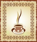 Illustration of cup of tea in the frame Royalty Free Stock Photo