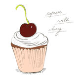 Illustration of cupcake Stock Image