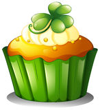 A cupcake for St. Patrick's Day Stock Images