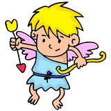 Illustration of cupid collection stock Royalty Free Stock Images