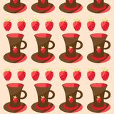 Illustration with cups Royalty Free Stock Images