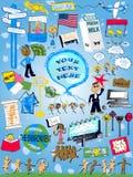 Illustration current cartoon Designs Stock Image