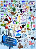 Illustration current cartoon designs Stock Photos