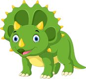 Cute and adorable Triceratops smile vector illustration