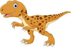 Cute and adorable Tyrannosaurus smile stock illustration
