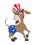 Illustration of a Cute American donkey Royalty Free Stock Image