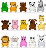 Illustration of a cute animal collection Stock Photo