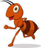 Cute ant cartoon running Stock Photography