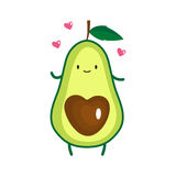 Illustration of cute avocado Stock Photography