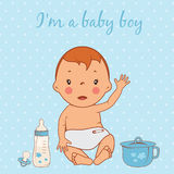Illustration of cute baby boy Stock Photo