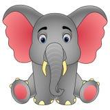 Cute baby elephant sitting isolated on white background stock illustration
