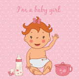 Illustration of cute baby girl Royalty Free Stock Photography