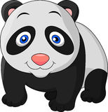 Cute baby panda cartoon Stock Photography