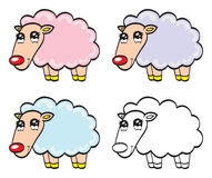 Cute cartoon baby sheep Royalty Free Stock Images