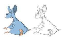 Illustration of Cute Bat Cartoon Coloring Book Royalty Free Stock Photos