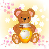 Illustration of cute bear Royalty Free Stock Photography