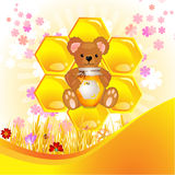 Illustration of cute bear Royalty Free Stock Images