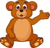 Cute bear cartoon waving Stock Photography
