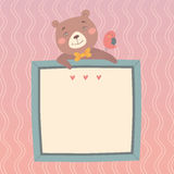 Illustration with cute bear Stock Photography