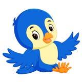 Cute bird cartoon stock illustration