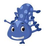 A cute blue caterpillar cartoon Royalty Free Stock Photography