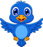 Cute bluebird cartoon flying Stock Photo