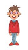 Illustration of a Cute Boy. Cartoon Character Stock Photo