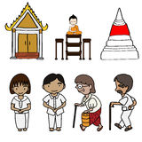 Illustration of Cute buddhism Royalty Free Stock Photo