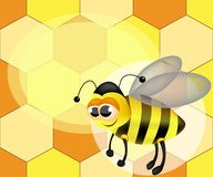Illustration of a cute cartoon bee. royalty free illustration
